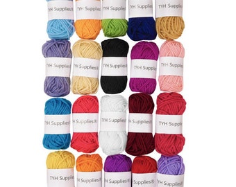 NEW - TYH Supplies 20 Skeins Bonbons Yarn Assorted Colors - 100% Acrylic- Fast and Free Shipping