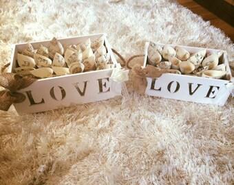 Confetti cone love box set - wedding