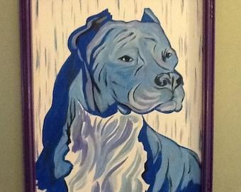 Modern art, modern, contemporary, pit bull, painting, wall art