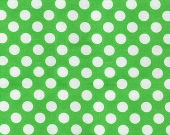 Green Polka Dot -Ta Dot Fabric by Michael Miller