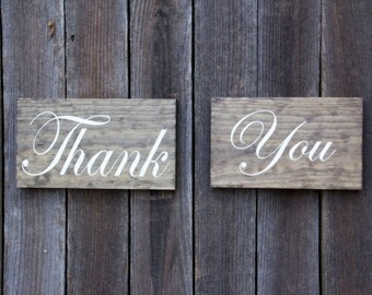 Rustic Wedding Sign | Rustic Thank You Sign | Rustic Wedding Decor | Wedding Thank You Sign | Country Wedding