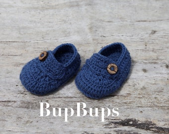Baby Loafers / Pram and crib shoes / Crochet Loafers/ Shoes/ Baby Boy/ Shoes / Baby Shoes/Handmade/baby booties/ baby gift Accessories