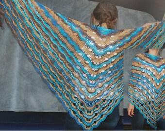 Seaside virus shawl, scarf, pareo