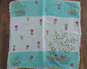 Vintage Garden Handkerchief