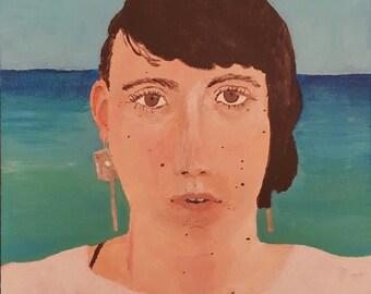 Original Self Portrait in Honolulu