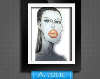 Cartoon Angelina Jolie