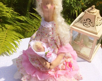Tilda doll with baby