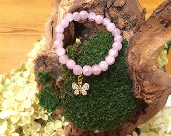 Butterfly charm ( beaded bracelet)