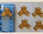raw brass queen royalty embellishment E0029