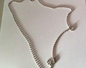 48cm ball chain / silver chain / ball chain