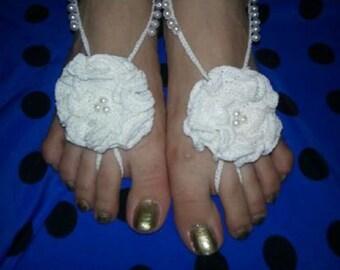 beach or wedding barefoot sandals пляжные или свадебные босые сандалии