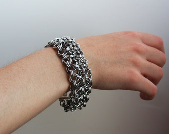 8 Inch Floral Chainmaille Cuff