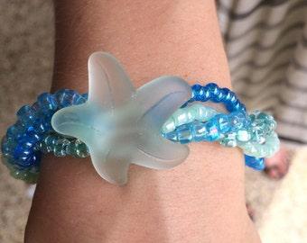 Sea glass starfish bracelet