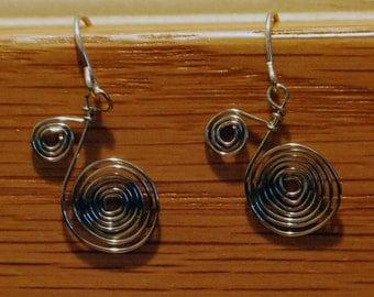 KCE-6007 - Silver Filigree Spiral Necklace