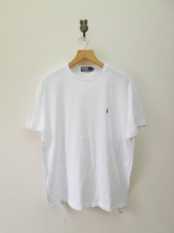 Vintage 90 39 S Polo By Ralph Lauren T Shirt Plain White Swag