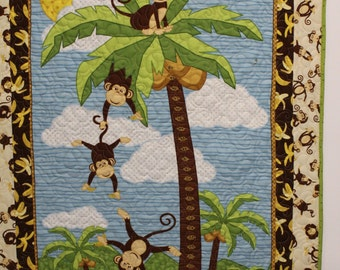 Monkey Baby Quilt - Grow Chart