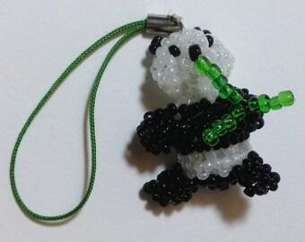 Panda Beaded Cellphone Mobile Phone Strap