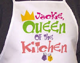 Personalized Queen of the Kitchen Apron