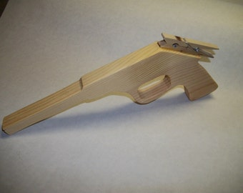 Wooden Toy Rubber Band Target Pistol