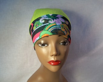 Fleece hat, chemo cap, cancer hat, alopecia just for style for anyone.