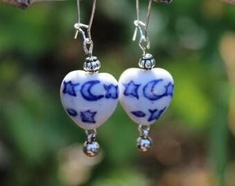 Porcelain Heart (Blue, White)