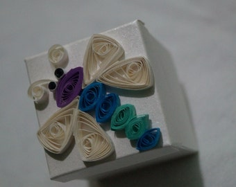 Quilled dragonfly box