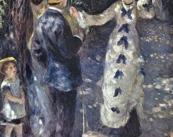 Auguste Renoir print - La balançoire - 1876 - large 39''x 27'' - lithograph exhibition poster