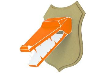 Paper - head of crocodile trophy - Orange Pop