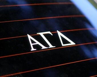 Alpha Gamma Delta | White Adhesive Decal