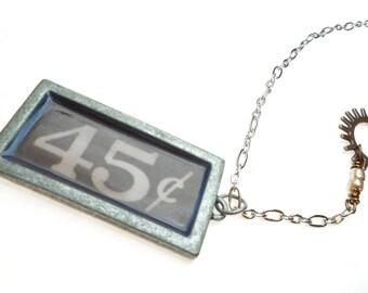 45 Cent Pendant Necklace