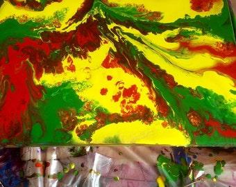 Acrylic marbling