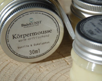 "Body mousse - whipped body butter - ""hot refreshment"""