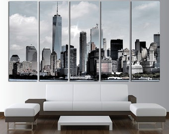 New York City Canvas Wall Art Multi Panel Set New York Wall Art New York Canvas Art New York City Canvas Wall Decor New York Poster Print