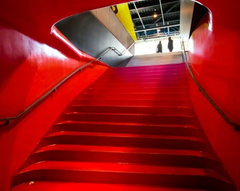 The Red Staircase - Seattle Public Library