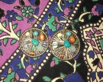 Beaded Wrap Dangle Earrings