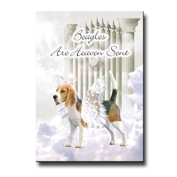 Beagle Heaven Sent Fridge Magnet