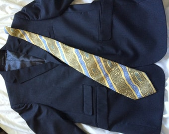 Haulinetrigere All Silk Tie - blue and yellow