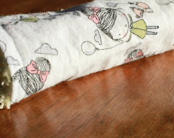 Baby Girl French and Fox Pocket Baby Burp Cloth