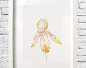 Orchid Original Watercolor 12 x 9