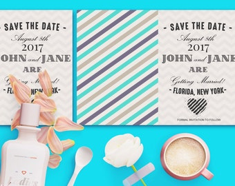 Retro Save the Date Card Template