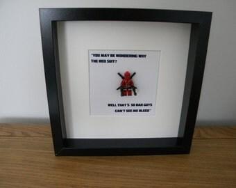 Lego framed Deadpool frame Marvel minifig