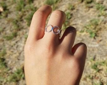 Stylish Retro Ring. Adjustable Size