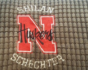Custom Embroidery 20 x 20 Chenille pillow cover