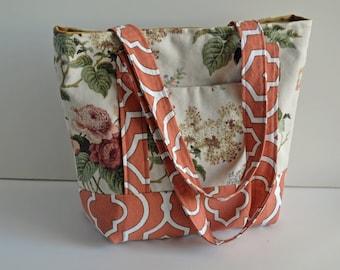 Tote--Orange Floral