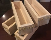 Folding wooden soap mould rectangle loaf soaping box