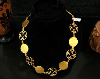 Unique,jewelry womens gift,Handmade,Byzantine Necklace , Gold Plated Necklace