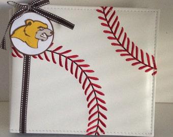 Baseball 8 x 8 Premade High School Album.  Simply add