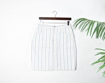 Vintage Striped Guess Jeans Skirt