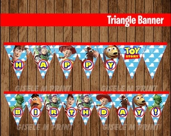 Toy Story Banner, Printable Toy Story Triangle Banner, Toy Story party Banner instant download