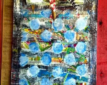 "Blue Polka Dot Clipboard, Artsy Clipboard, Wall Decor Clipboard, Menu Clipboard, ""To-Do"" clipboard, The Clipboard Boutique"